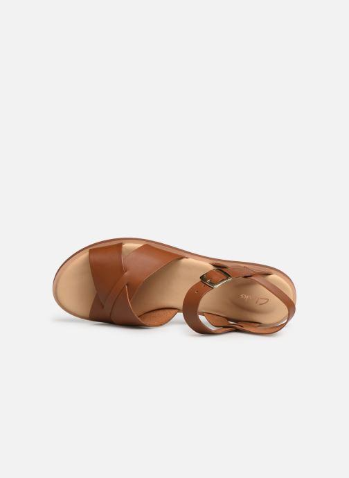 Sandales et nu-pieds Clarks WILLOW GILD Marron vue gauche