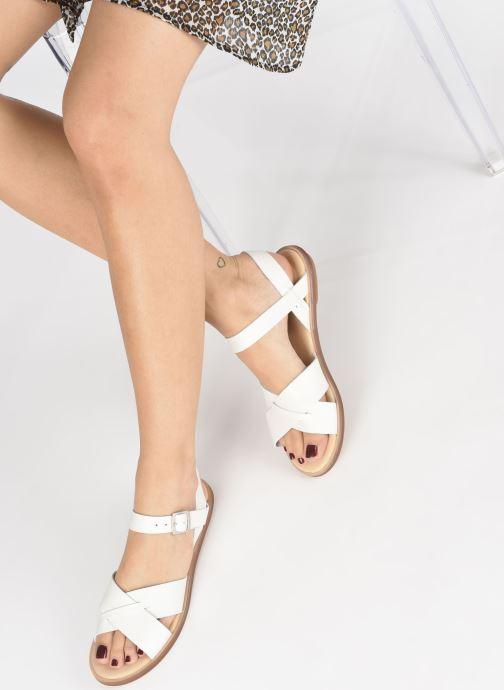 Sandales et nu-pieds Clarks WILLOW GILD Blanc vue bas / vue portée sac