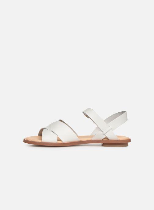 Sandales et nu-pieds Clarks WILLOW GILD Blanc vue face