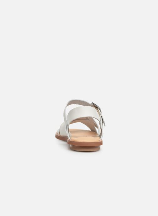 Sandalias Clarks WILLOW GILD Blanco vista lateral derecha