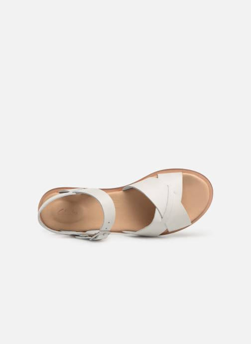 Sandalias Clarks WILLOW GILD Blanco vista lateral izquierda