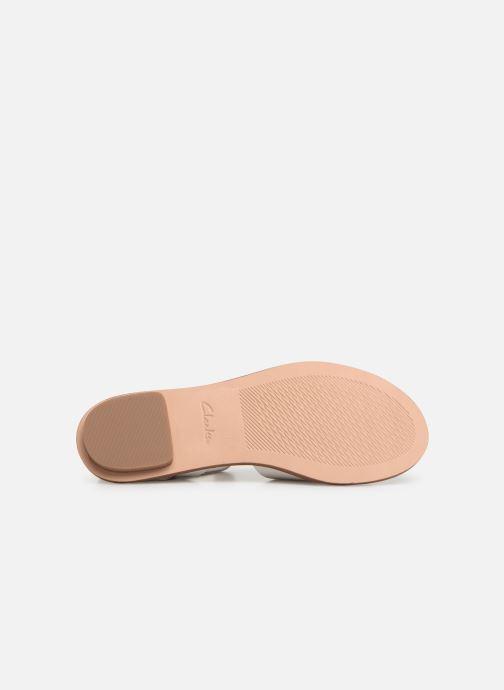 Sandales et nu-pieds Clarks WILLOW GILD Blanc vue haut