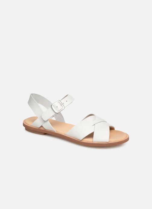 Sandales et nu-pieds Clarks WILLOW GILD Blanc vue détail/paire