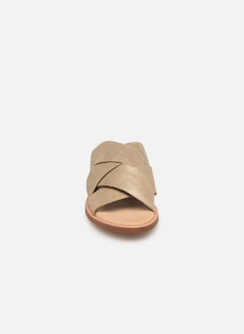 Mules et sabots Clarks WILLOW ART Or et bronze vue portées chaussures
