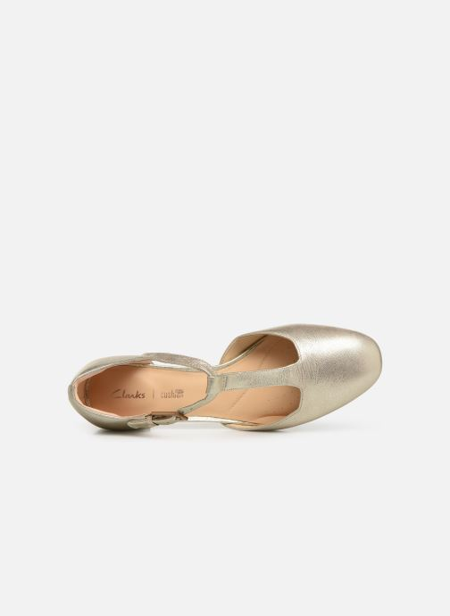 Ballerines Clarks ORABELLA HOLLY Or et bronze vue gauche