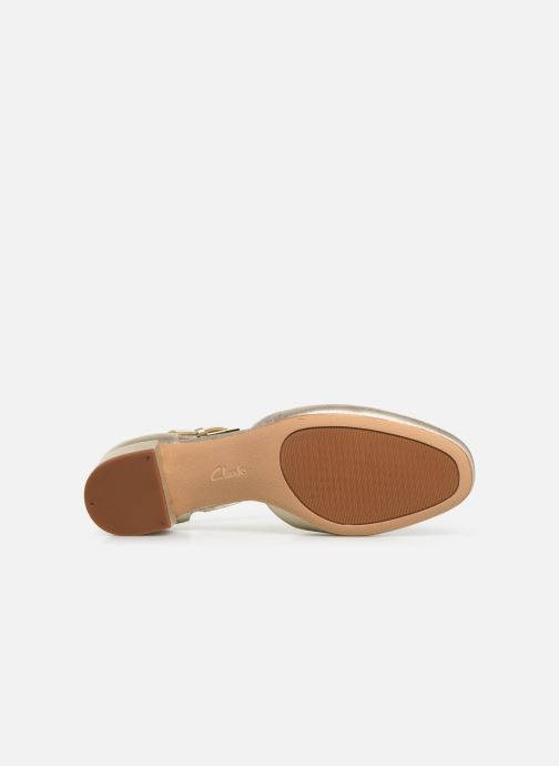 Ballerines Clarks ORABELLA HOLLY Or et bronze vue haut