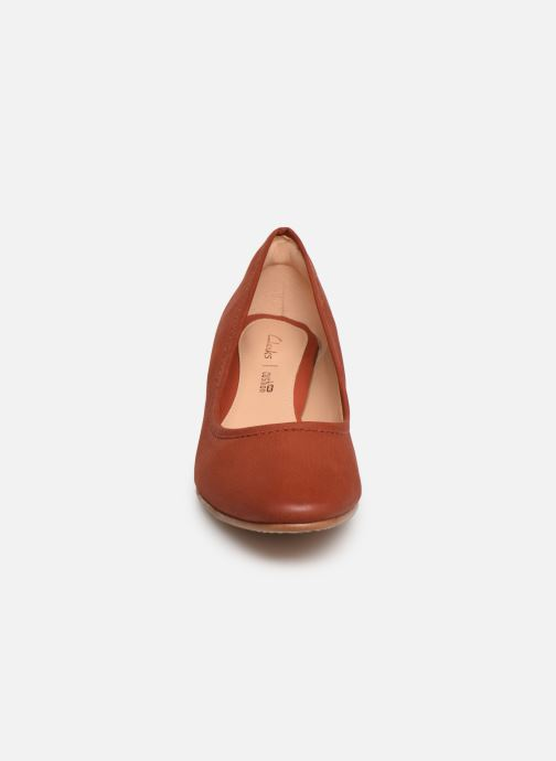 Escarpins Clarks GRACE OLIVIA Rouge vue portées chaussures