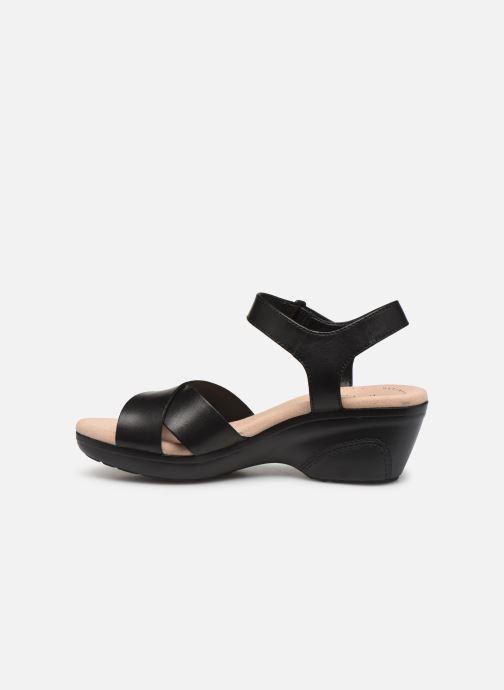 Sandales et nu-pieds Clarks Lynette Deb Noir vue face