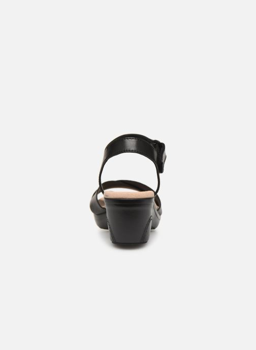 Sandals Clarks Lynette Deb Black view from the right
