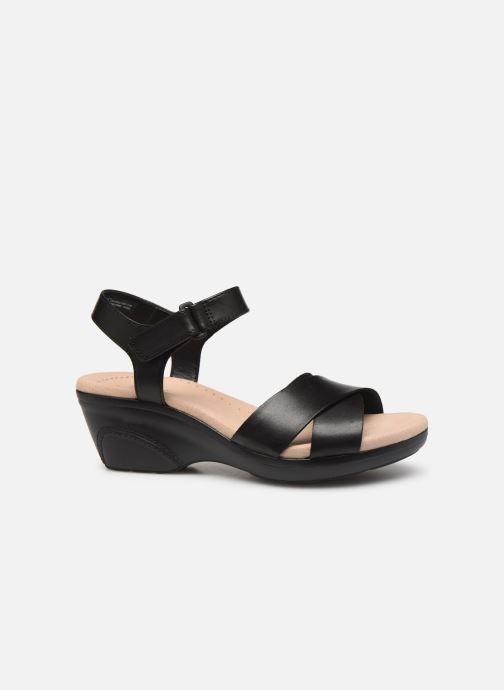 Sandales et nu-pieds Clarks Lynette Deb Noir vue derrière
