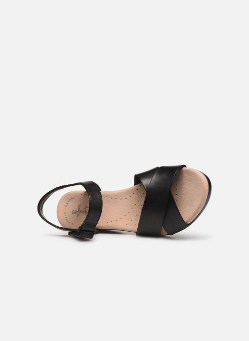 Sandales et nu-pieds Clarks Lynette Deb Noir vue gauche