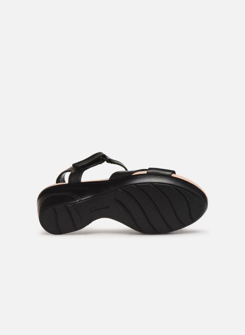 Sandales et nu-pieds Clarks Lynette Deb Noir vue haut
