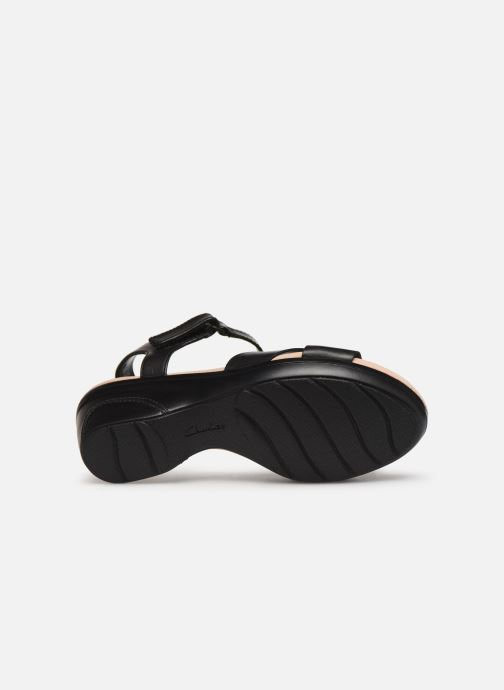 Sandals Clarks Lynette Deb Black view from above