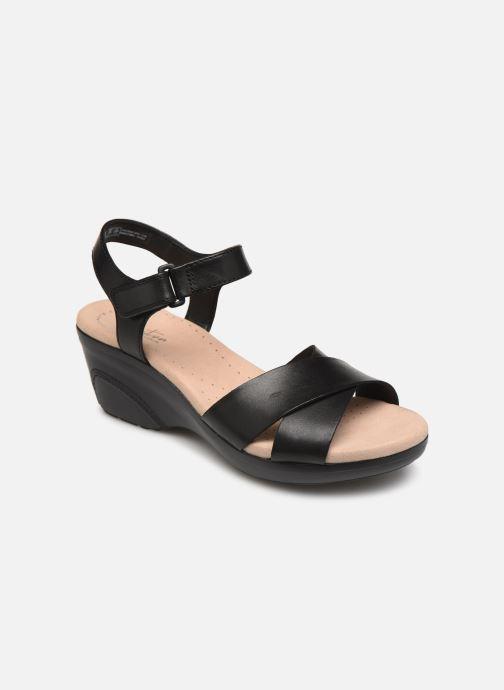 Sandaler Clarks Lynette Deb Sort detaljeret billede af skoene