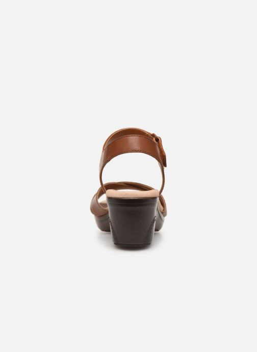 Sandals Clarks Lynette Deb Brown view from the right