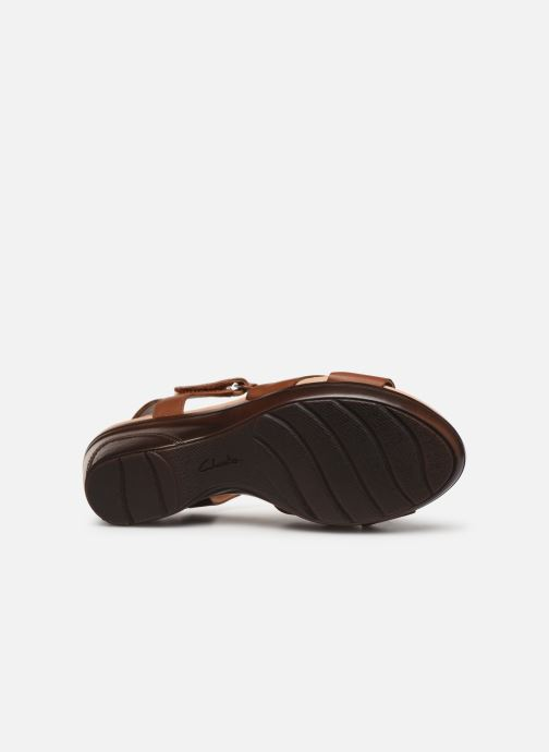 Sandals Clarks Lynette Deb Brown view from above