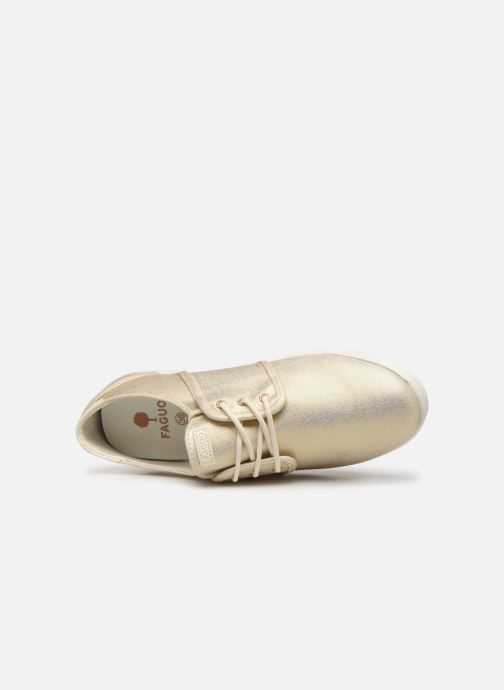 Trainers Faguo Cypress Cotton W Bronze and Gold view from the left