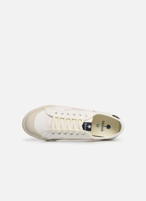 Trainers Faguo Avocado Cotton C White view from the left