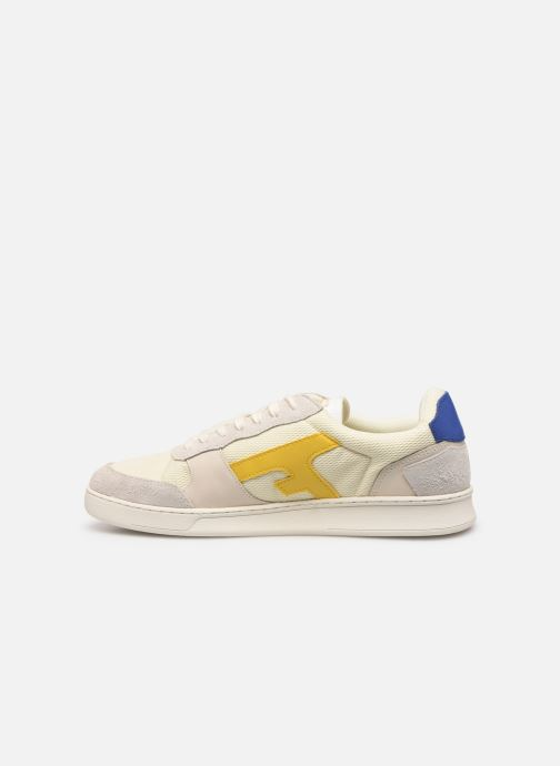 Trainers Faguo Hazel Leather Suede White front view