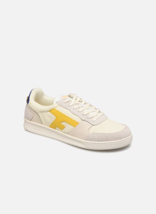 Trainers Faguo Hazel Leather Suede White detailed view/ Pair view