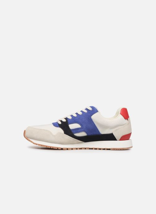 Trainers Faguo Runnings Ivy Synthetic Suede White front view