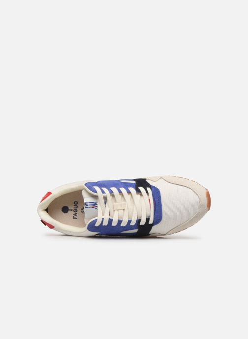 Trainers Faguo Runnings Ivy Synthetic Suede White view from the left