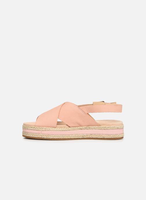 Sandales et nu-pieds Clarks Botanic Fay Rose vue face