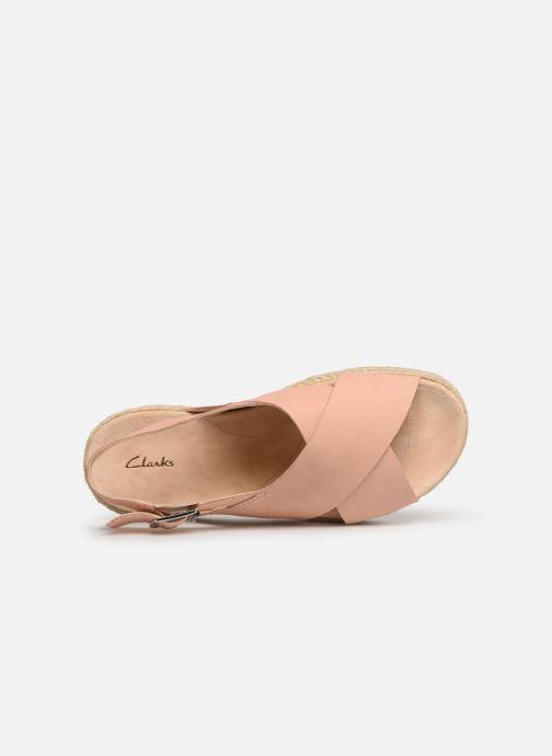 Sandales et nu-pieds Clarks Botanic Fay Rose vue gauche