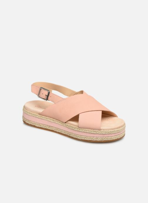 Sandaler Clarks Botanic Fay Pink detaljeret billede af skoene