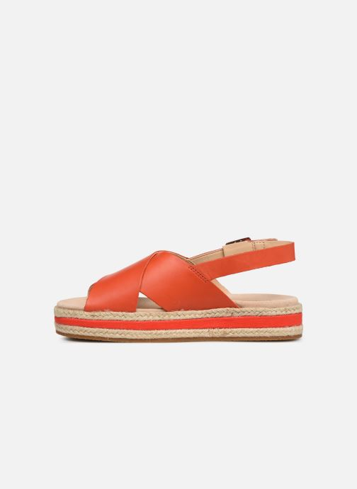 Sandales et nu-pieds Clarks Botanic Fay Rouge vue face