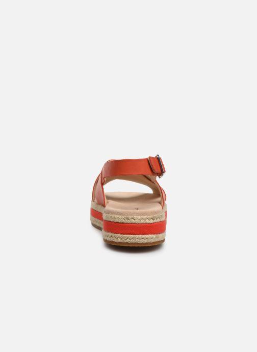 Sandales et nu-pieds Clarks Botanic Fay Rouge vue droite