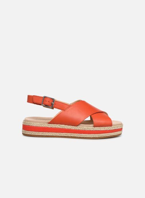 Sandales et nu-pieds Clarks Botanic Fay Rouge vue derrière