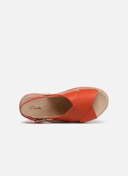 Sandales et nu-pieds Clarks Botanic Fay Rouge vue gauche