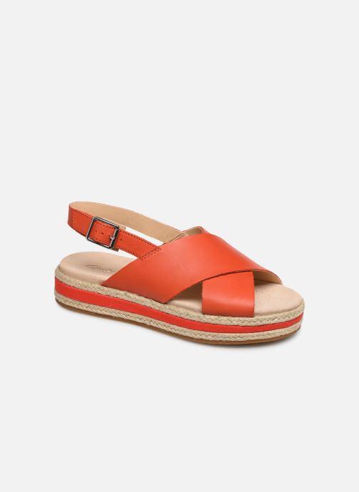 Sandales et nu-pieds Clarks Botanic Fay Rouge vue détail/paire