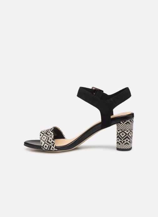 Sandals Clarks Amali Weave Black front view