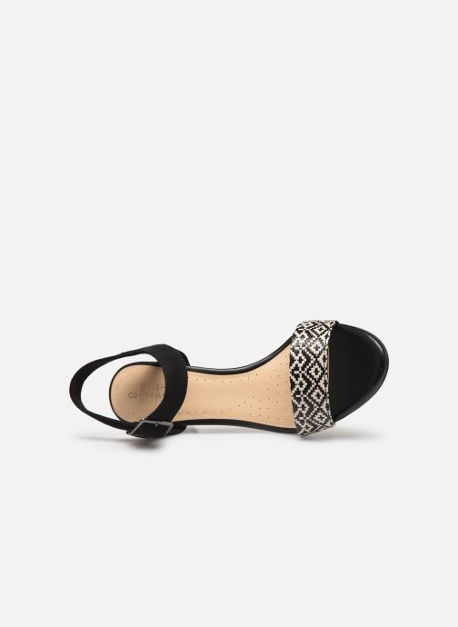 Sandals Clarks Amali Weave Black view from the left