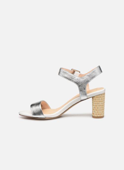 Sandales et nu-pieds Clarks Amali Weave Argent vue face