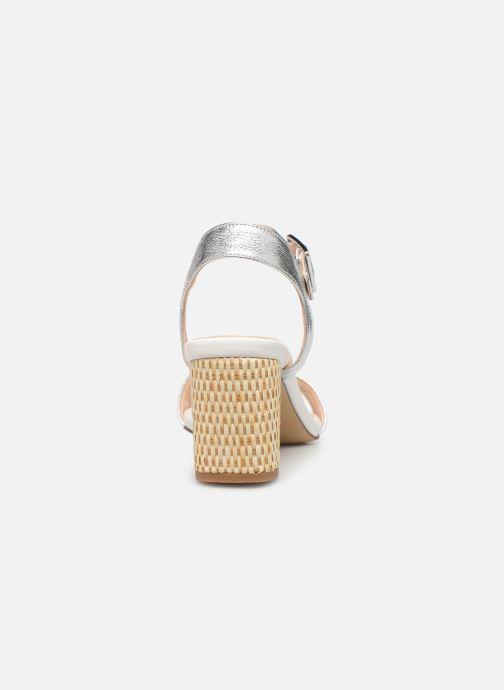 Sandales et nu-pieds Clarks Amali Weave Argent vue droite