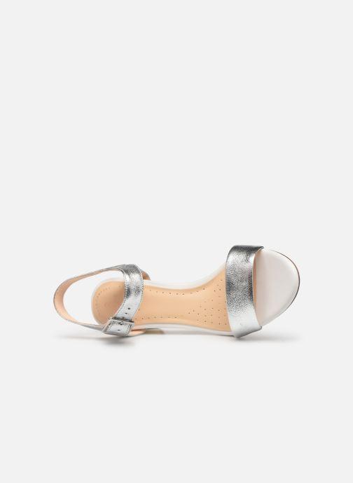 Sandali e scarpe aperte Clarks Amali Weave Argento immagine sinistra