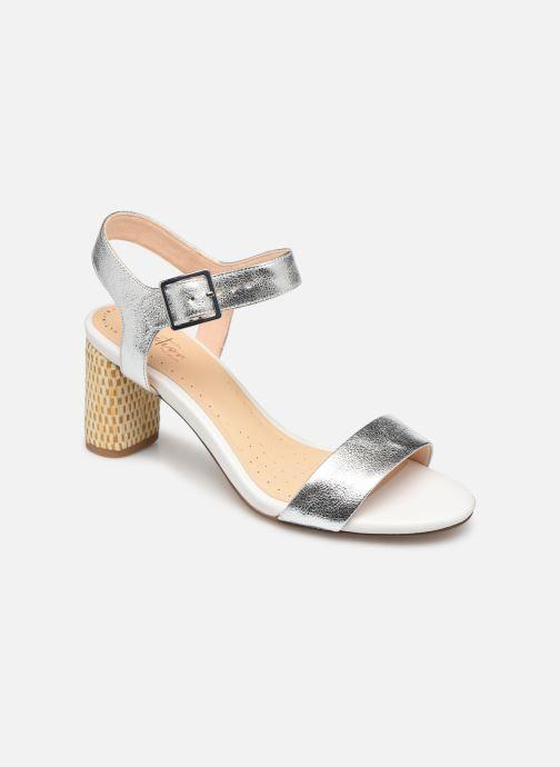 Sandales et nu-pieds Clarks Amali Weave Argent vue détail/paire