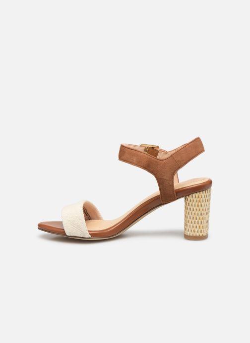 Sandales et nu-pieds Clarks Amali Weave Marron vue face