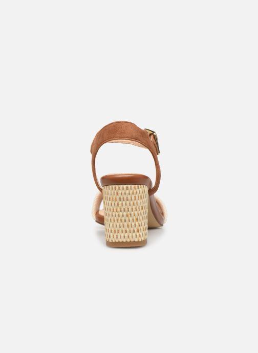 Sandales et nu-pieds Clarks Amali Weave Marron vue droite