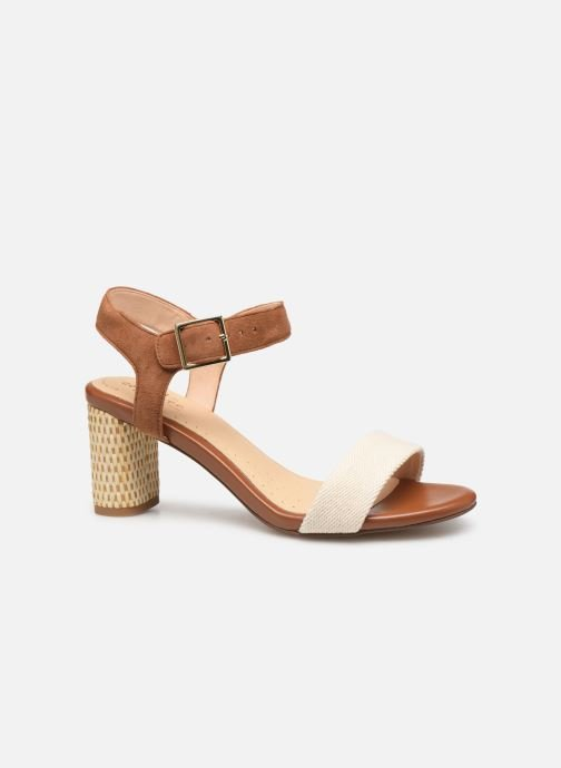Sandals Clarks Amali Weave Brown back view