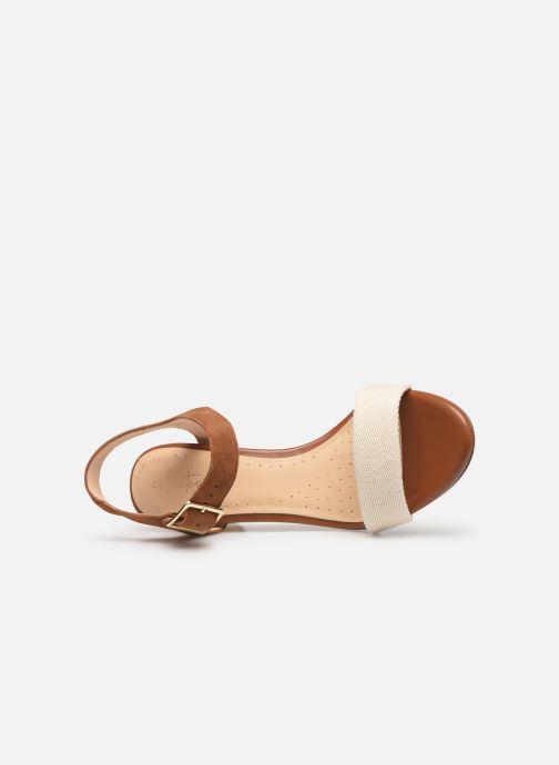 Sandales et nu-pieds Clarks Amali Weave Marron vue gauche
