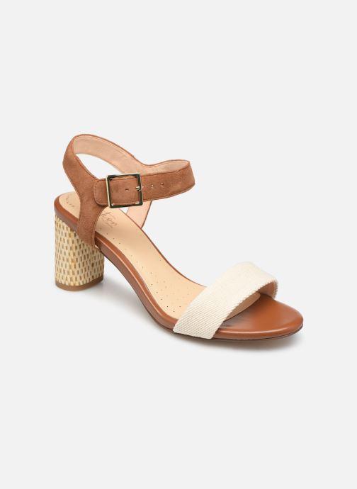Sandales et nu-pieds Clarks Amali Weave Marron vue détail/paire