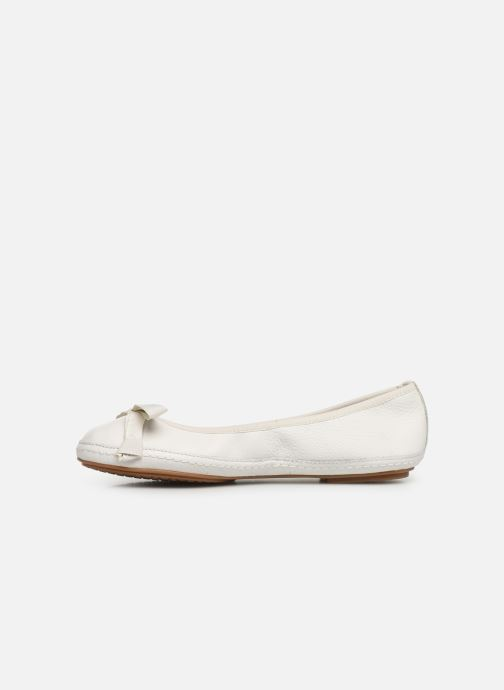 Ballerines Clarks Clovelly Walk Blanc vue face