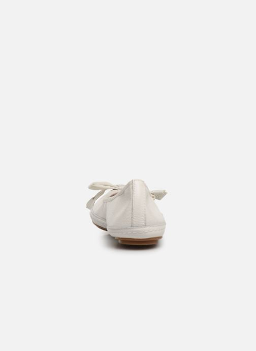 Ballet pumps Clarks Clovelly Walk White view from the right