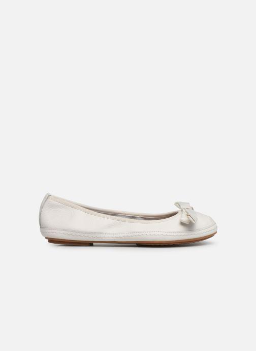 Ballet pumps Clarks Clovelly Walk White back view