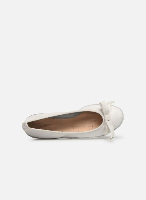 Ballet pumps Clarks Clovelly Walk White view from the left