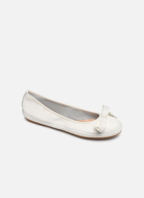 Ballet pumps Clarks Clovelly Walk White detailed view/ Pair view
